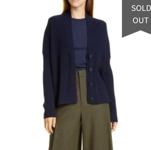 Vince wool cashmere navy button cardigan